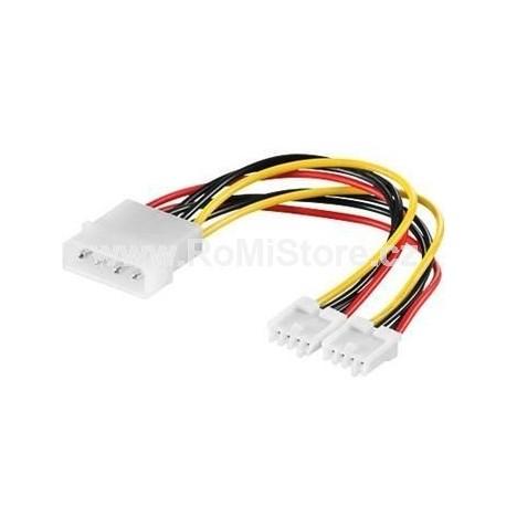 """Molex 5,25"""" - 2x3.5"""" napájecí kabel 15cm"""