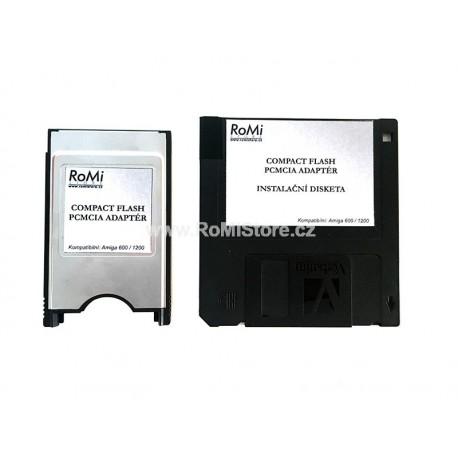 PCMCIA - CF Amiga Adaptér + Instal Disk