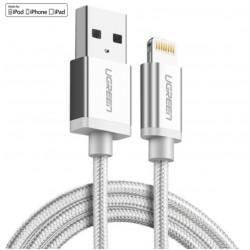 Lightning / USB kabel Ugreen Silver 1,5m MFi certifikovaný